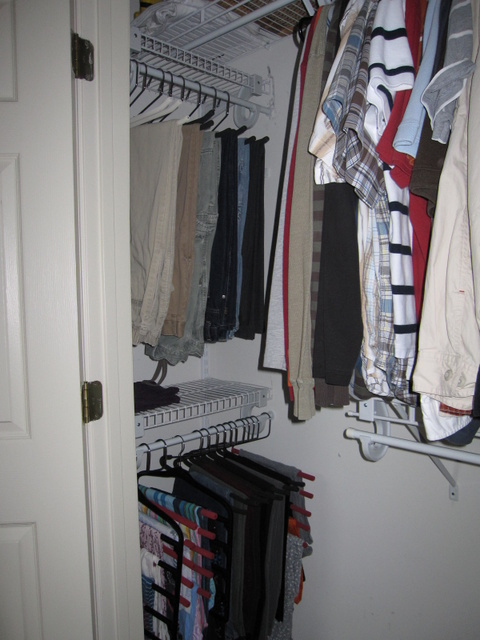 New Shelves with clothes