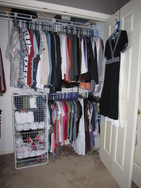 Completed closet (right)