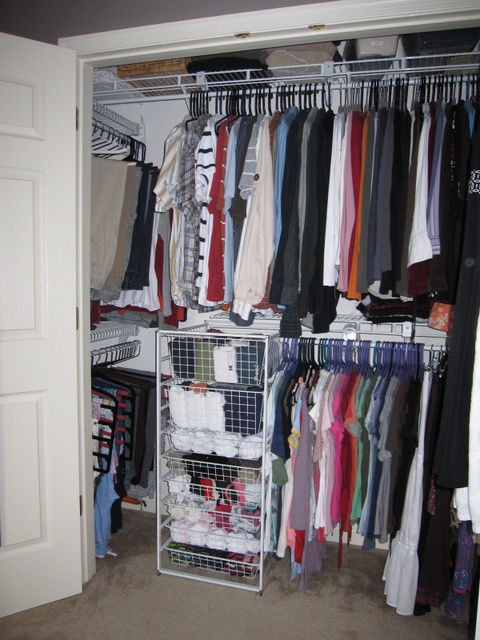 Completed closet (left)